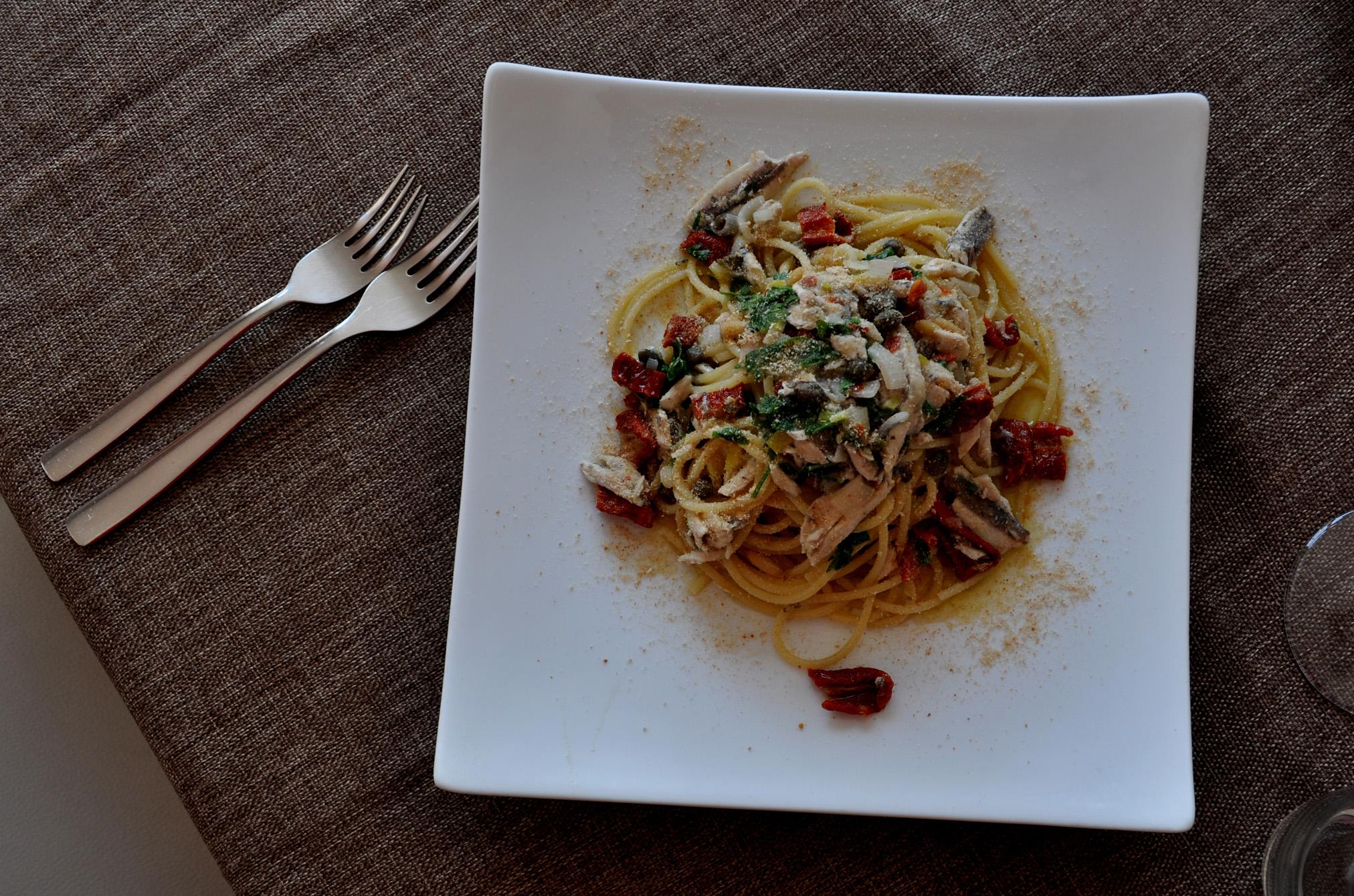 spaghetto al pesto vietrese